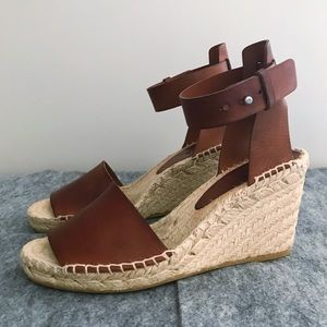 Vince Simona Espadrille Wedge in Luggage Brown